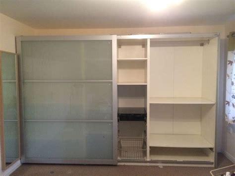 ikea pax bedroom furniture ikea pax wardrobe h201xw300xd58 lyngdal sliding glass