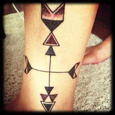 arrow compass tattoo tumblr side tattoo aztec pattern diamond tattoo triangles