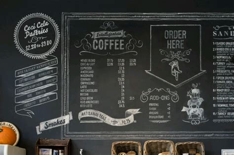 home menu board design 17 best images about chalkboard ideas on pinterest
