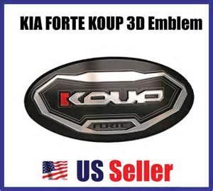 Kia Forte Koup Badges Kia Forte Koup 3d Logo Emblem Set Coupe Grill Trunk Ebay