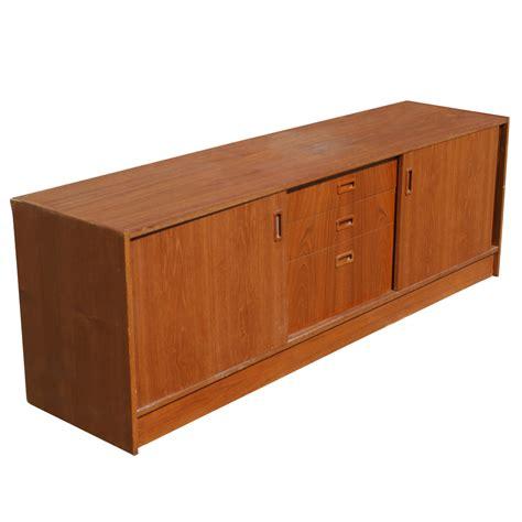 sideboard cabinet 70 quot vintage danish teak cabinet sideboard ebay