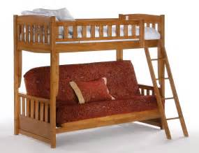 Bunk Bed With Futon And Day Cinnamon Futon Bunk Bed In Medium Oak