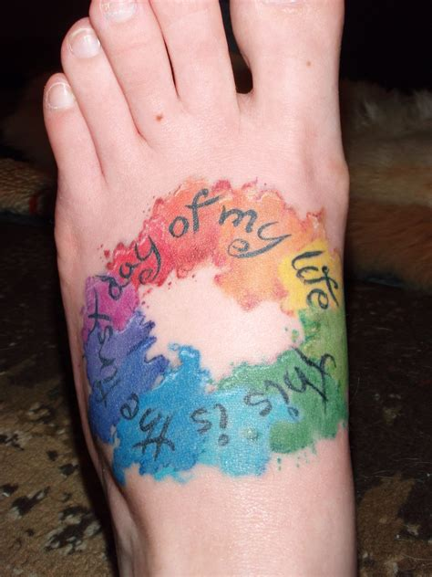 color wheel tattoo some lyrics from my husband and i s song at