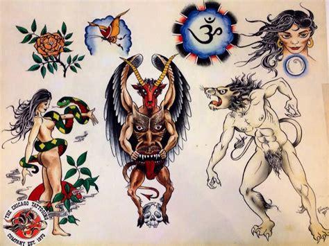 tattoo flash ravens chicago tattoo company cliff raven tattoo flash set