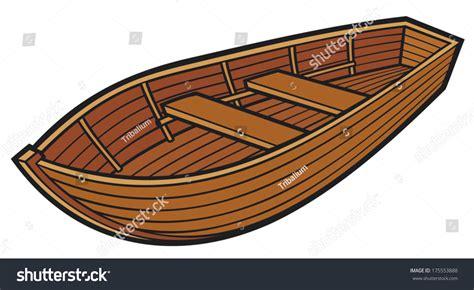 wood boat vector wooden boat stock vector 175553888 shutterstock
