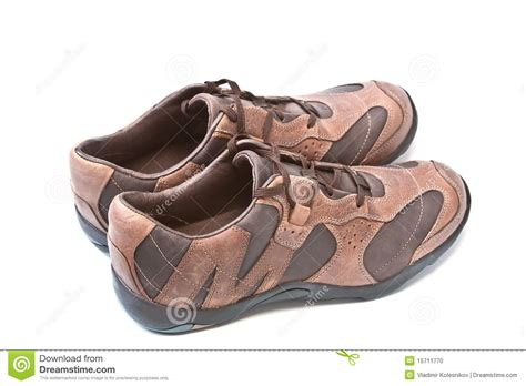 brown athletic shoes pair of brown athletic shoes stock photo image 15711770