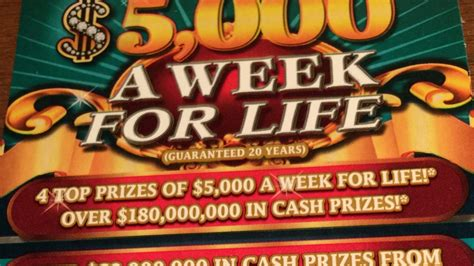 Living A Week by Florida Lottery 10 5 000 A Week For
