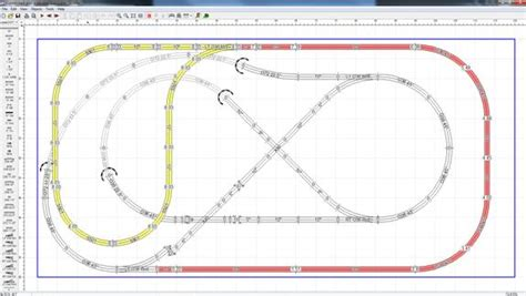 o gauge layout design software first stab at 5x9 fastrack layout o gauge railroading on