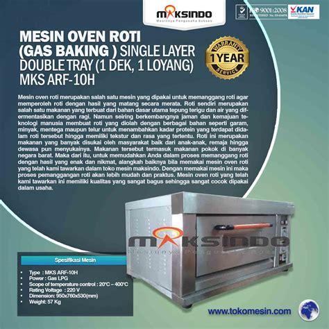 Oven Gas Di Bali jual mesin oven roti gas 1 loyang mks rs11 di denpasar