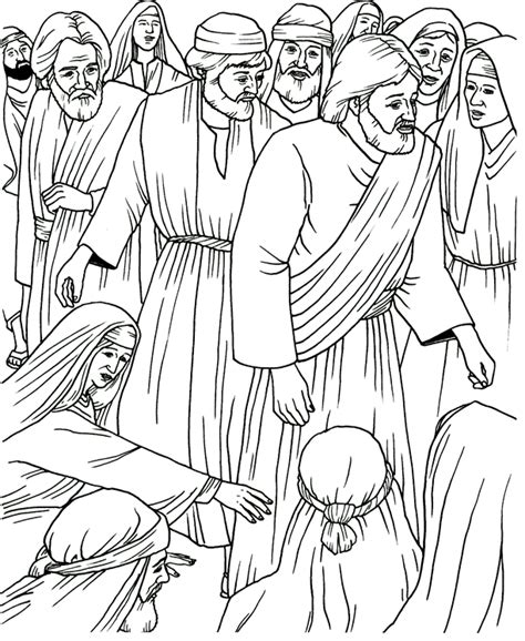 coloring page jesus heals bleeding touching jesus coloring page colour