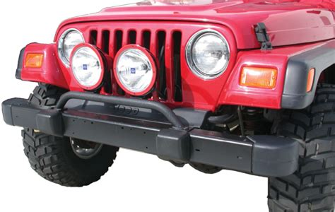 Jeep Bumper Light Bar Olympic 4x4 Products Front Bumper Auxiliary Bar For 97 06
