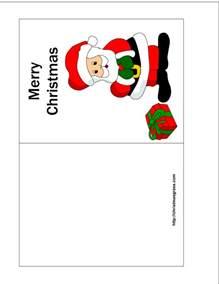 small greeting card template free printable card with charming santa