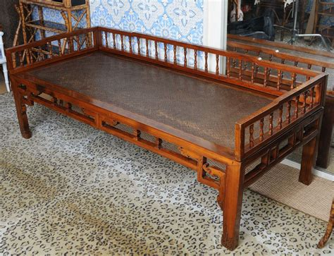 chinese bed antique chinese elmwood quot opium bed quot or daybed at 1stdibs