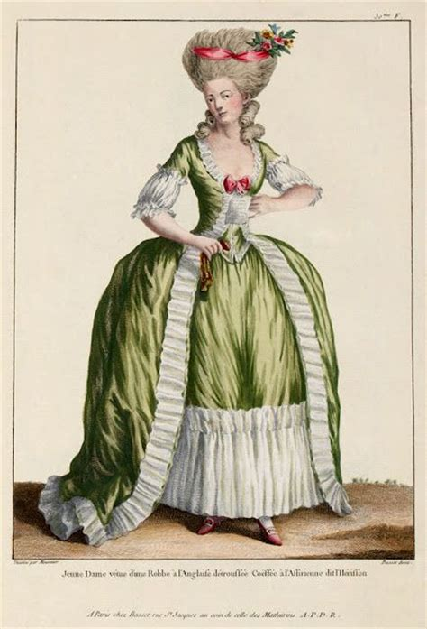18th century french clothing 1778 fashion plate yes please fashion glamour hair