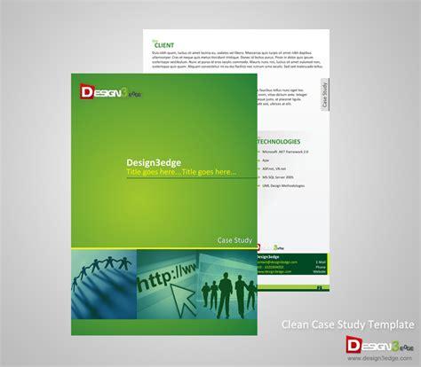Clean Case Study Template   Design3edge.com