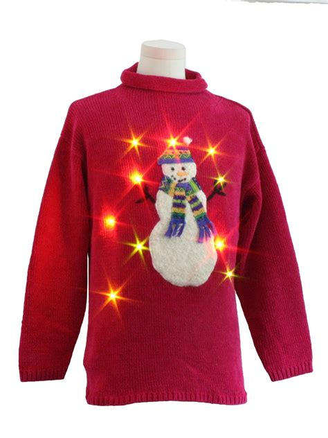 lightup ugly christmas sweater belle point unisex