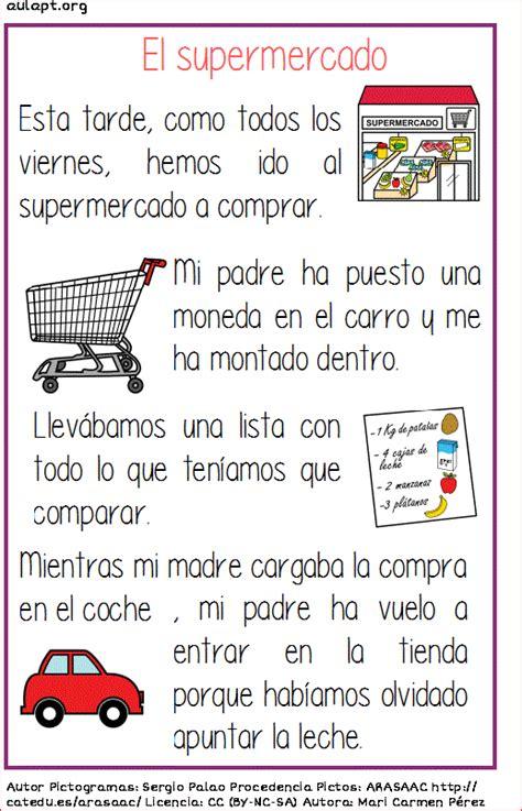 textos instructivos con preguntas de comprension lectura comprensiva de textos cortos el supermercado