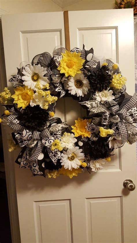 summer wreath everyday wreath deco mesh wreath front