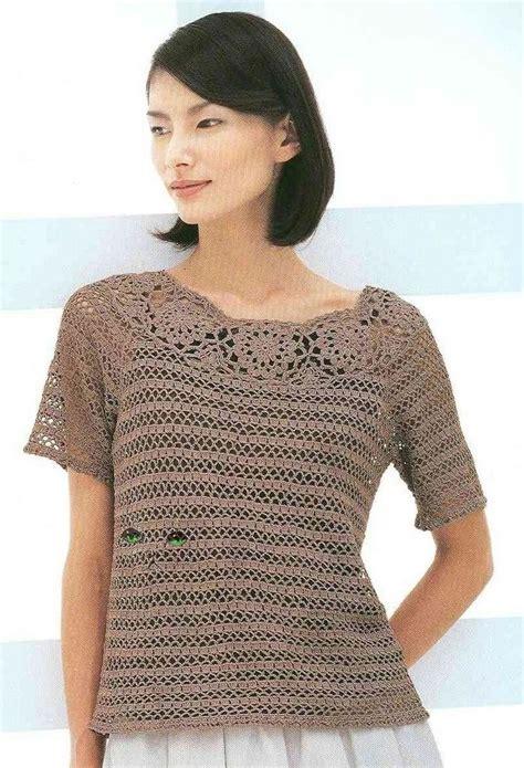 Shirt Pattern Top | free crochet pattern top blouse shirt mostly crochet