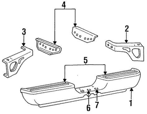 auto body repair training 1995 dodge ram 2500 club user handbook bumper components rear for 1995 dodge ram 2500