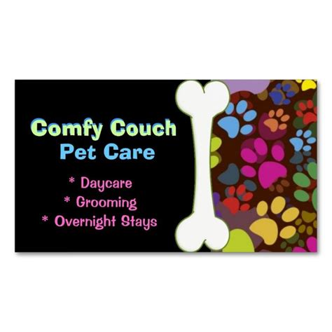 paw print business card template top 25 ideas about animal pet care business card templates