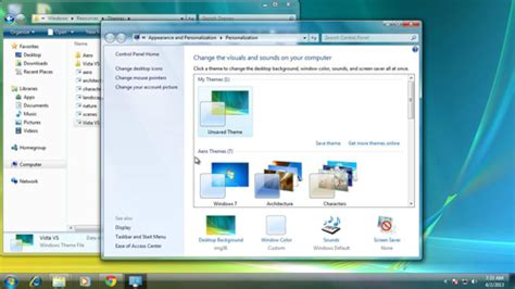windows 7 desktop themes not working windows 7 themes in vista