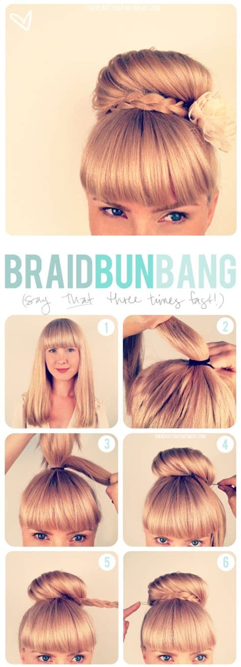 buns with braiding hair and bang top 25 braided hairstyle tutorials you ll totally love