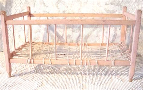 Handcrafted Baby Cribs - handmade pink vintage baby doll crib 1950s doll cribs