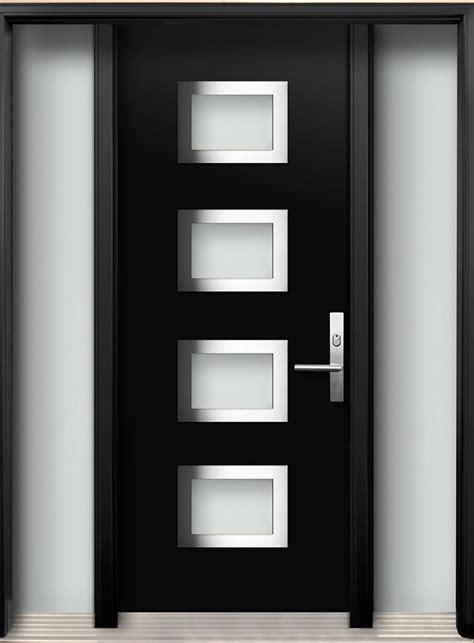 modern doors modern wood door with 4 panel stainless steel