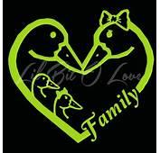 Family Decal Customized Kissing Ducks Vinyl Sticker