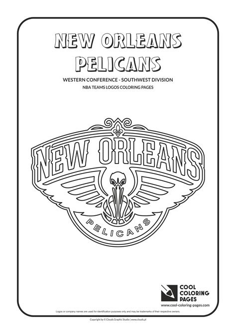 coloring pages nba team logos pelican coloring page pelicans coloring pages pelicans