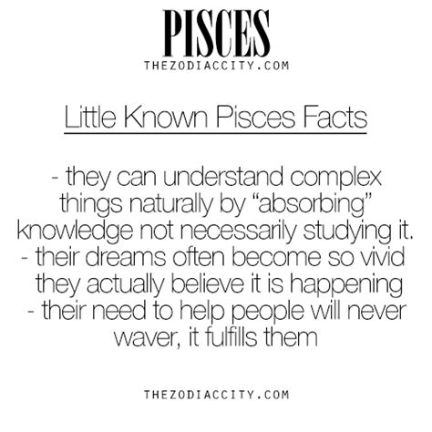 little known facts about pisces for more information on