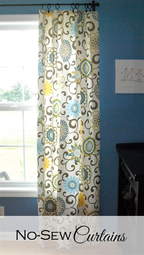 how to make simple curtains without a sewing machine no sew curtains endlessly inspired