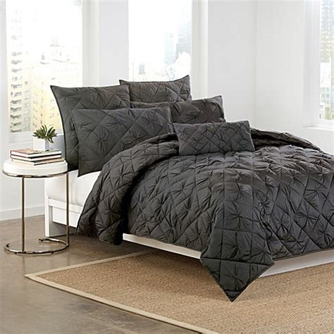charcoal bedding buy dkny diamond tuck king quilt in charcoal from bed bath