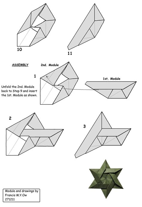 Origami Of David - francis ow s origami diagrams 6 of david