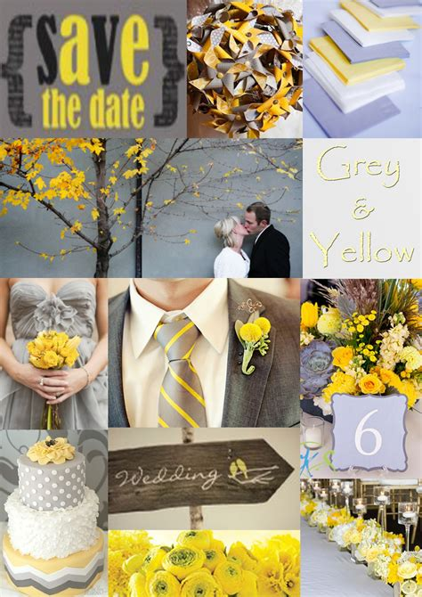 wedding ideas gray and yellow wedding ideas
