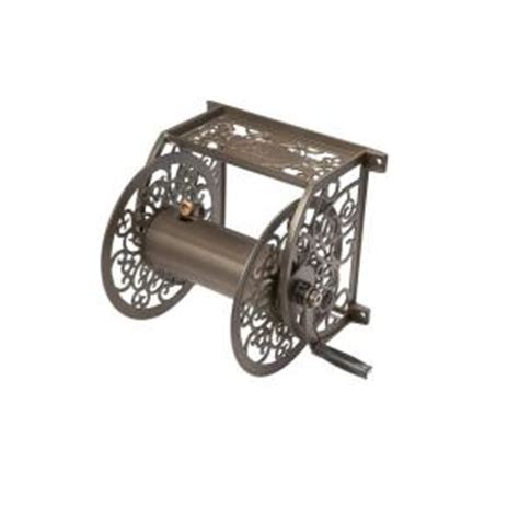 liberty garden decorative cast aluminum hose reel 705