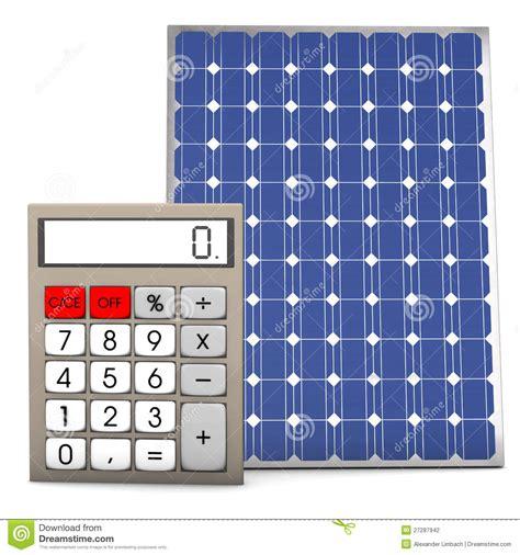 calculator solar panel solar panel calculator stock photography image 27287942