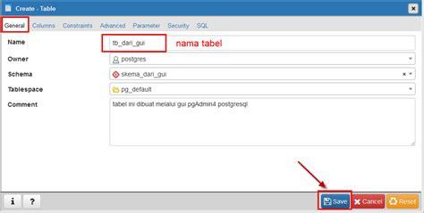 membuat query pada postgresql postgresql membuat table database simple code indonesia