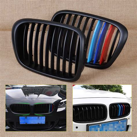 Grill Racing 2000 2001 2002 2003 dwcx m color front kidney grille grill for bmw 5 series e39 525 528 530 535 540 m5 1995 1997