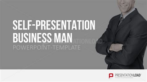 Self Presentation Powerpoint Template Business Man Self Presentation Template