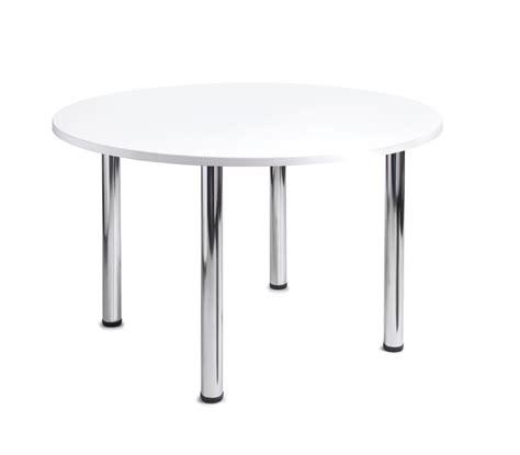 White Meeting Table Turin Chrome Leg White Meeting Table