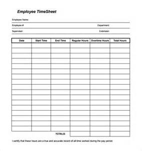 22 blank timesheet templates free sample example