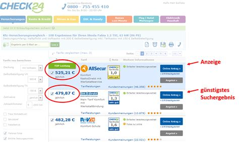 Kfz Versicherung Preis Leistungsvergleich by Kfz Versicherung So Finden Sie Die G 252 Nstigste