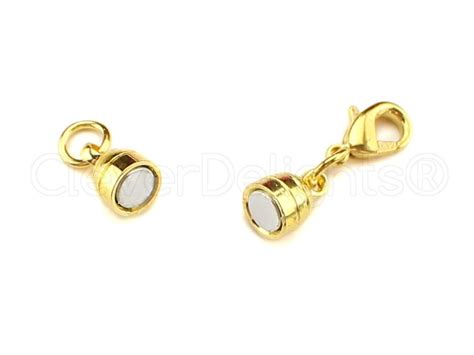 magnetic for jewelry 8 magnetic jewelry clasps capsule style gold color