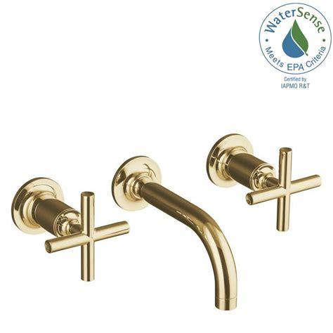 Kohler Elate Kitchen Faucet Kohler Purist Wall Mounted Soap Dispenser Polished Gold