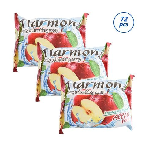 Harmony Fruity Soap Lemon 70g jual groceries harmony fruity refreshing soap green