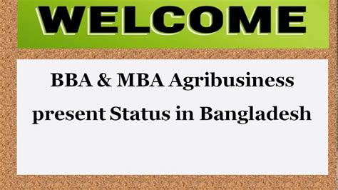 Bba Mba by Bba Mba Agribusiness Present Status In Bangladesh