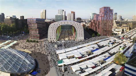 designboom market construction begins on mvrdv s market hall in rotterdam