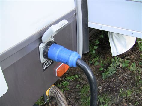 rv shore power or electrical connector fifth wheel